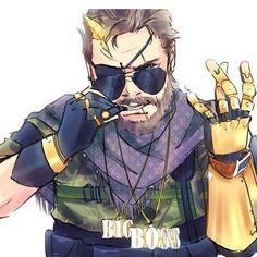 Gang Big Boss // I'm kinda glad this a thing Snake Metal Gear, Metal Gear Games, Metal Gear Solid Series, Mgs V, Kojima Productions, Dragon Ball Z Shirt, Finn The Human, Gear Art, Red Hood
