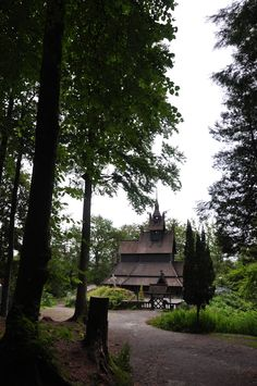 Fantoft Stavechurch  Bergen Norway Great Places, Places Ive Been, Places To Go, Black Heart, Bergen, Ancestry, Finland, Sweden, Vikings