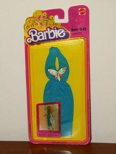 1978 Barbie Best Buy Fashions 1467 NRFP Teal Blue Halter Dress w Butterfly | eBay