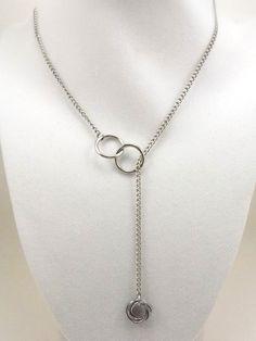 Vortex Eternity Lariat Necklace, Stainless Steel on Etsy, $40.00