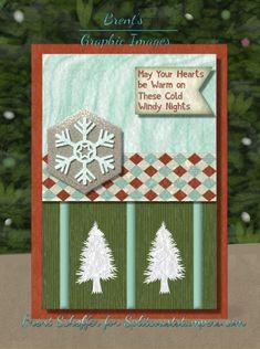 Karen Barber, Tree Borders, Pretty Christmas Trees, Tree Stencil, Tree Base, Canvas 5, Basic Grey, Winter Scenes, Paper Design