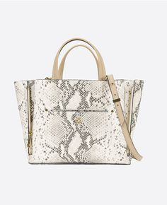 Primary Image of Mini Exotic Embossed Signature Tote Welt Pocket f8d6f43cca121