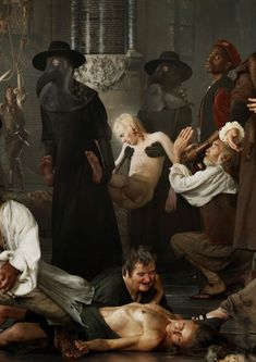 The Siege and Relief of Leiden 2011, by photographer Erwin Olaf - Liberty, Plague and Hunger, detail