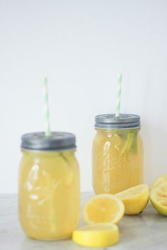 Recette citronnade limonade au citron maison bio - facile et rapide Mason Jar