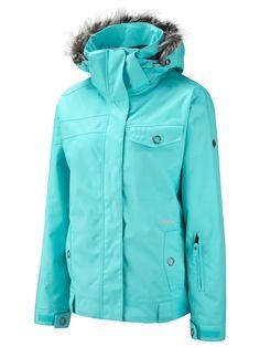 Surfanic Turquoise Ribbon Recycled Womens Ski Jacket | Ski & Snowboarding