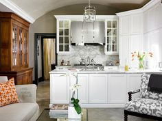 love the buffet in kitchen instead of dining room...acts as additional cabinetry