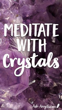 Do You Meditate With Your Crystals? It's so powerful to do! Learn A Simple Crystal Meditation Technique to deepen your meditations and connect with your crystals in a profound and beautiful way! #crystalmeditation #crystals #meditation #meditate