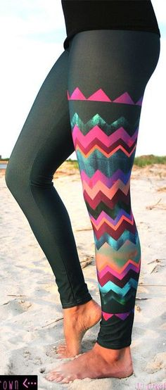 'LIDO WEST - Chevron' Style Legging  esty.com