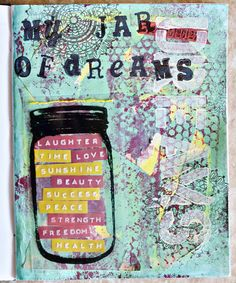 art journal page.  I could copy a bunch mason jars or print them.  The students fill in the jars!
