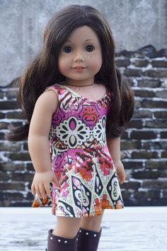 18 Doll Clothes Boho Print Knit Sleeveless door Closet4Chloe