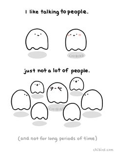 I feel great about talking 1 on 1 with most people, but interacting in large groups with strangers is definitely not a strong point for me. >///< Shy, introverted ghost understands.