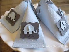 Baby Blue and Grey  Baby Elephant - Baby Shower Favors - Birthday Party Favors - Elephant favor boxes..set of 12 by BeautifulPaperCrafts on Etsy https://www.etsy.com/listing/103210527/baby-blue-and-grey-baby-elephant-baby