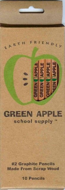 Green Apple Recycled #2 Pencils: