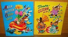 PV Pestalozzi Verlag Ostern Malbuch 2 Stück - unbemalt - 1970er Jahre