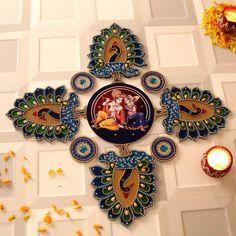 Rangoli Designs for Diwali: Buy Diwali Rangoli Online, Rangoli Stencils Diya Designs, Colorful Rangoli Designs, Rangoli Designs Diwali, Same Day Delivery Gifts, Womens Day Gift Ideas, Diwali Gift Hampers, Thali Decoration Ideas, Acrylic Rangoli, Diwali Decorations At Home