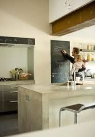 Image result for concrete kitchen benchtop with laminate cupboards below
