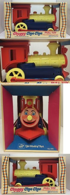 Pull Toys 728: 1970 S Ding Dong Chuggy Choo Choo Plastic Pull Toy The World Of Toys Very Rare! -> BUY IT NOW ONLY: $127.25 on eBay!