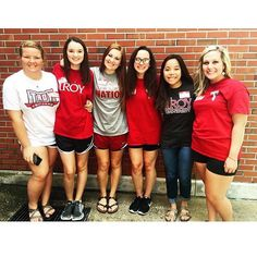 Our new members are wearing their Troy colors for College Colors Day & you should too! We are so thankful to attend a University we have so much pride in. #troyccd #troyuspirit