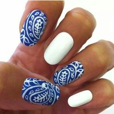 It reminds me of Greece #nails