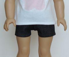 Black Denim Shorts - American Girl Doll Clothes