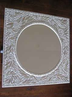 White Petal Essence Mirror by Glenys Fentiman  Glenmark Glass Mosaic News  This is one of my absolute favourites!