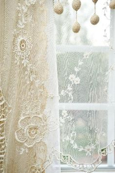 old lace in window