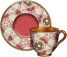 artbyjean blog cup and saucer | Cups, Saucers and Tea Pots - CD #MM-025 - Red Green Needlepoint.