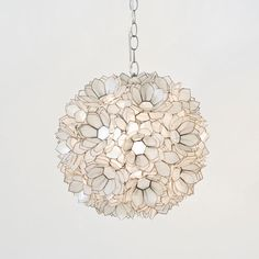 Mila Pendant Lamp in Lotus White @PoshTots