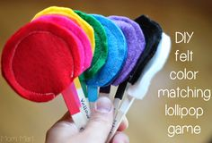Great way to work on color recognition #DIY #Education from @Mom_Mart