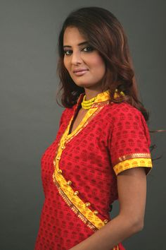 Ethnic angrakha style kurti