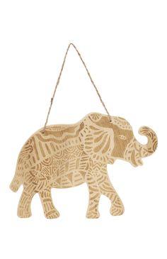 Hanging Elephant Plaque