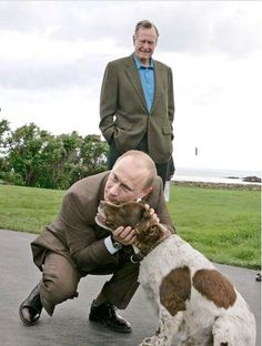 Putin loves animals.