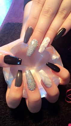Stone Marble & Coffin Nails