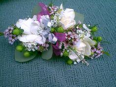 Gardenia wrist corsage.