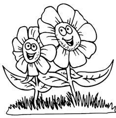 desene de colorat cu flori 5