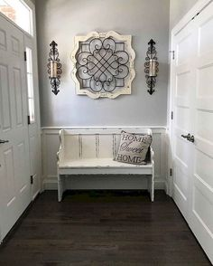 cool 48 Stunning Rustic Entryway Decor Ideas Entryway Decor Ideas Cool decor Decorating Entryway farmhouse Home ideas Rustic Stunning Rustic Entryway, Entryway Decor, Entryway Ideas, White Bench Entryway, Rustic Decor, Rustic Living Room Decor, Enterance Decor, Entryway Closet, Rustic Room