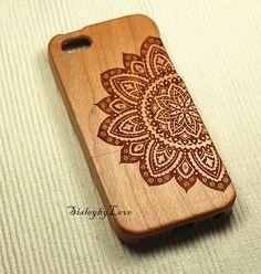 Custom Order for Floral Mandala wood iPhone 4/4s case, Wood iPhone 5/5s/5c case, iPhone 5c case iphone 4/4s, 5/5s, 5c, Minority Totem