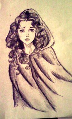 Christine Daae - jbonifacio . Character Sketch / Drawing Illustration Inspiration I wish I could draw like this!