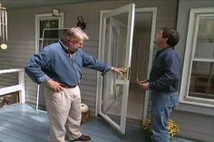 How to Install a Glass Storm Door • Ron Hazelton Online • DIY Ideas & Projects