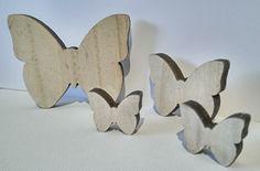 Deko-Objekte - 4erSet Schmetterlinge Holz Deko Frühling - ein Designerstück von kreativ-Zweisam bei DaWanda