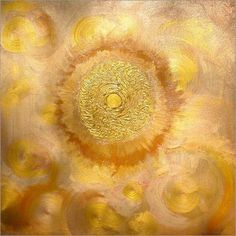 Wandbild von Ramon Labusch - GOLDENE SONNE