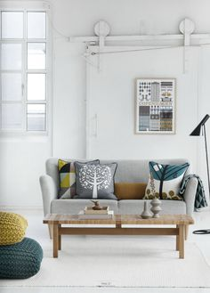 love this modern living room and especially the pillows by ferm living on the couch. http://www.skimbacolifestyle.com/2012/02/ferm-living-2012-spring-summer-collection.html