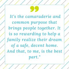 Twin Cities Habitat for Humanity #volunteer quotes