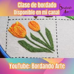 Hand Embroidery Videos, Hand Embroidery Patterns, Diy Embroidery, Cross Stitch Landscape, Flower Embroidery Designs, Embroidered Flowers, Creative Art, Diy And Crafts, Sewing