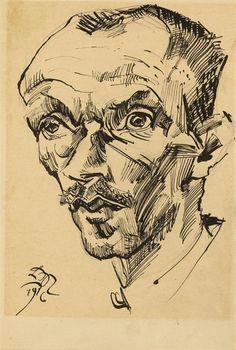 Ludwig Meidner, Bildnis eines Mannes, 1916, Auktion 997 Moderne Kunst, Lot 332