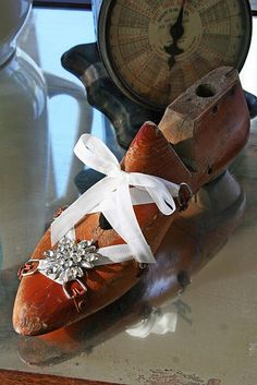 altered shoe form with bling