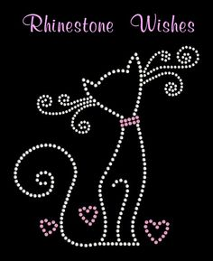 Fancy Cat Rhinestone Transfer Iron On DIY by RhinestoneWishes, $8.75
