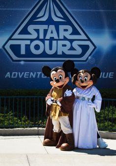 Jedi Mickey and Minnie