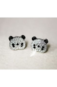 Panda Stud Earrings I have to have these!!!!!