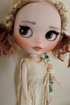 Daisy a custom factory Blythe doll by WillowDesignstoyshop on Etsy